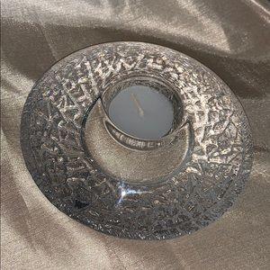 Orrefors crystal votive candle holder